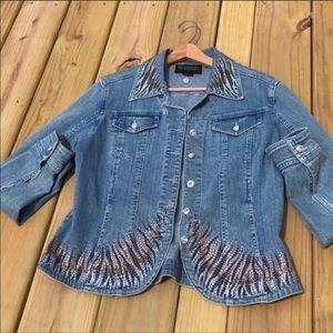 🆕Christine Alexander Swarovski Crystal Jacket